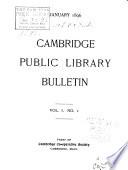 Cambridge Public Library Bulletin