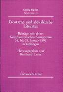 Deutsche und slovakische Literatur
