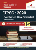 UPSC Combined Geo Scientist  Prelims    General Studies 2020   Paper I   15 Mock Test  With Complete Solution