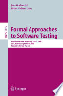 Formal Approaches to Software Testing