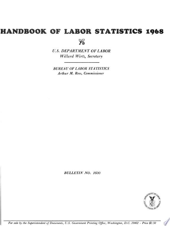 Handbook of labor statistics