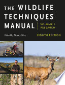 The Wildlife Techniques Manual