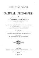 Elementary Treatise on Natural Philosophy  Mechanics  hydrostatics  and pneumatics