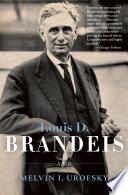 Louis D  Brandeis Book PDF