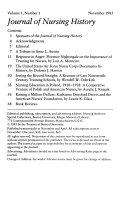 Journal of Nursing History