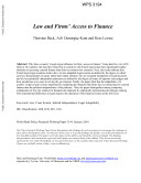 Law and firms' access to finance