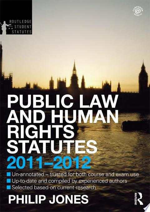 Public Law and Human Rights Statutes 2011 2012
