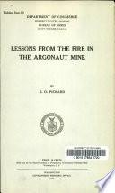 Lessons from the Fire in the Argonaut Mine