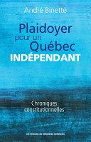 Pdf Plaidoyer pour un Québec indépendant Telecharger
