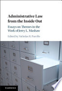 Administrative Law from the Inside Out Book