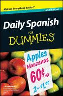 Daily Spanish For Dummies    Mini Edition