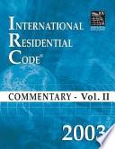2003 International Residential Code Commentary