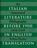Italian Literature Before 1900 in English Translation
