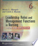 Leadership Roles And Management Functions In Nursing Book