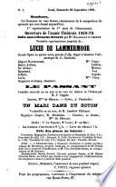 Théatre de Gand, programmes 1869-1870