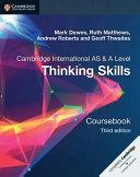 Books - New Cambridge International As & A Level Thinking Skills Coursebook   ISBN 9781108441049