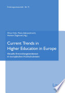 Current Trends In Higher Education In Europe