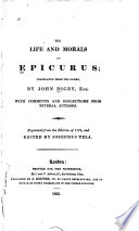 The Life and Morals of Epicurus Book