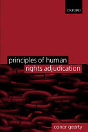 Cover of Principles of Human Rights Adjudication