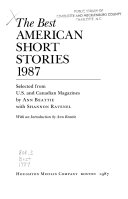 The Best American Short Stories 1987