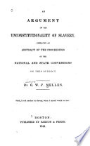 An Argument on the Unconstitutionality of Slavery