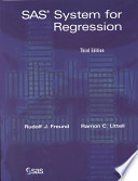 SAS System for Regression