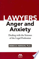 Lawyers  Anger  and Anxiety Book