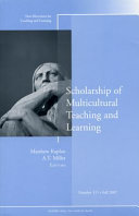 Scholarship of Multicultural Teaching and Learning Book