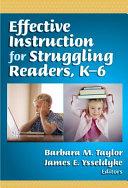 Effective Instruction For Struggling Readers K 6