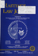 The Hastings Law Journal Book PDF