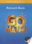 Go Math Reteach Workbook Grade K