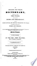 An English and Welsh Dictionary