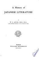 A History of Japanese Literature, by W.G. Aston, ...