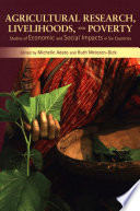 Agricultural research  livelihoods  and poverty Book