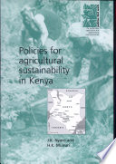 Policies For Agricultural Sustainability In Kenya Book PDF