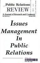 Issues Management In Public Relations