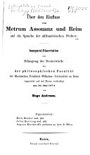 Pamphlets on French Philology (Old French) 1850-1900
