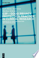 G3P   Good Privacy Protection Practice in Clinical Research Book