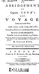 An Abridgement of Captain Cook s Last Voyage