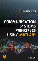 Pdf Communication Systems Principles Using MATLAB Telecharger