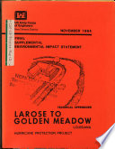 Larose To Golden Meadow Hurricane Protection