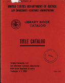 Library Book Catalog