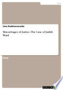 Miscarriages of Justice  The Case of Judith Ward