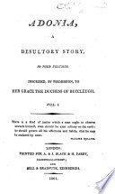 Adonia, a Desultory Story