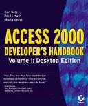 Access 2000 Developer s Handbook