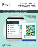 Revel for Human Communication in Society    Combo Access Card Book PDF