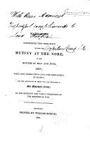 A Narrative of Occurrences that Took Place During the Mutiny at the Nore  in the Months of May and June  1797