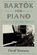 Bart  k for Piano