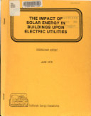 The Impact of Solar Energy in Buildings Upon Electric Utilities Book