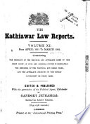 The Kathiawar Law Reports ...